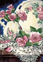 Метки. крестом. крестиком.  0. Альбом.  Название схемы: Dimensions 06929 Lace And Roses. регистрации. вышивка...