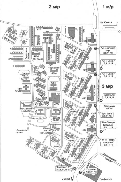 Схема 18 микрорайона зеленоград