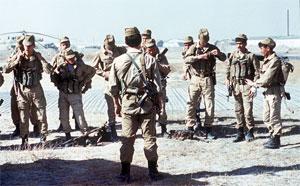 Советская группа СпН готовится к выходу на задание. Афганистан