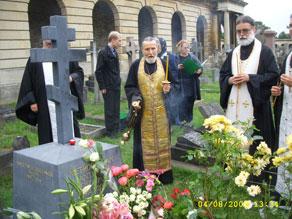 Захоронение митрополита Антония в Лондоне