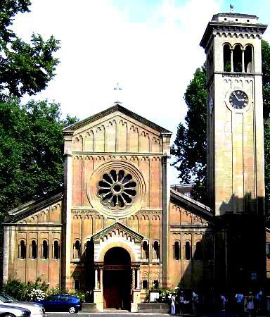 Здание англиканской церкви во имя Всех Святых