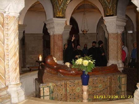 Ложе Богородицы в церкви Успения Пресвятой Богородицы