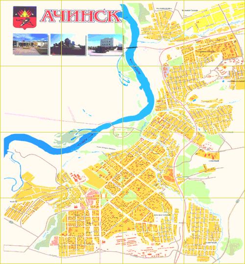 карта ачинска
