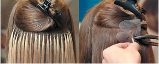 Наращивание щипцами волосы