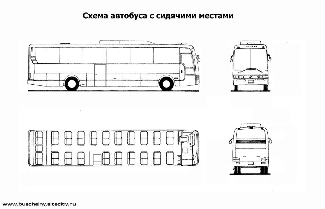 Места в автобусе схема man
