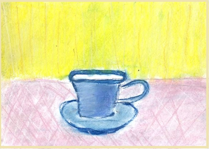 Рисунки к голубой чашке