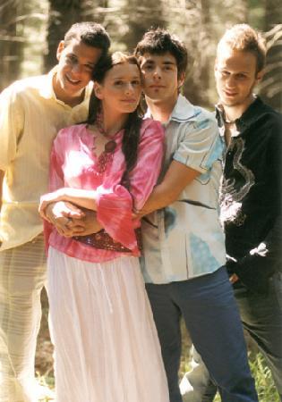 Три парня и девушка фото 44-592