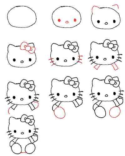 Как нарисовать Hello Kitty