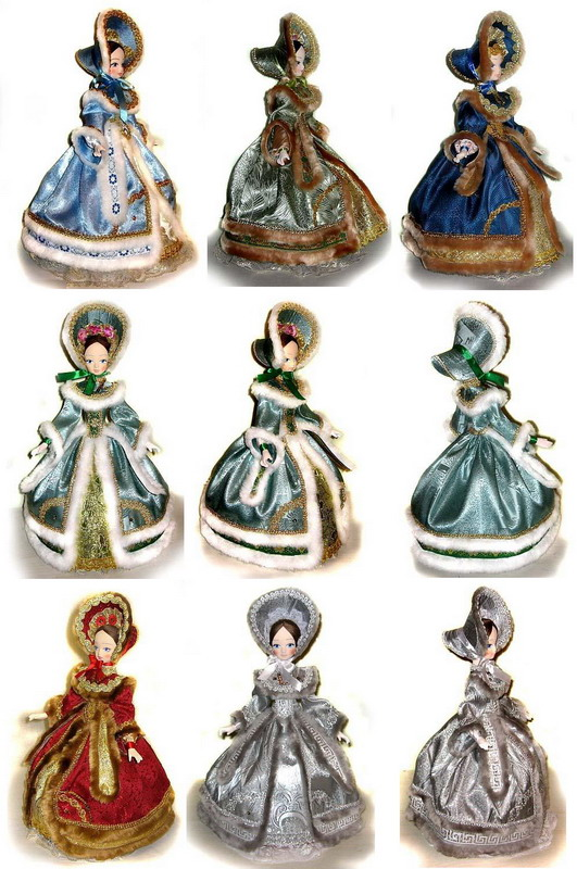Шляпки капор для кукол