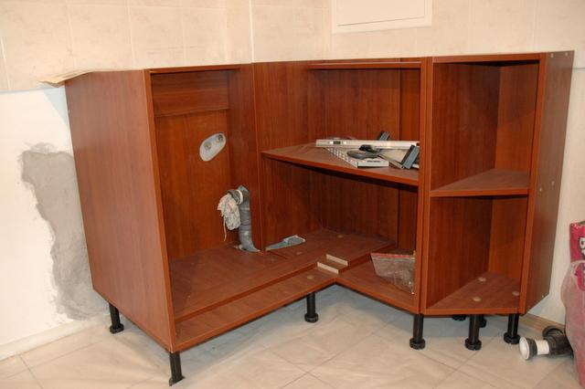 Кухонные нижние шкафы своими руками