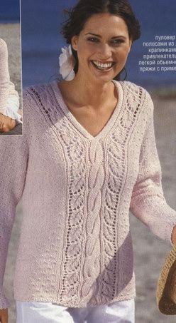 Пуловер С Ажурной Каймой С Доставкой