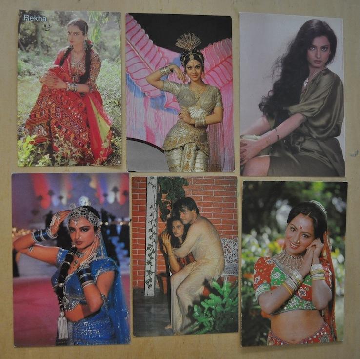 Индийские открытки с актерами 73