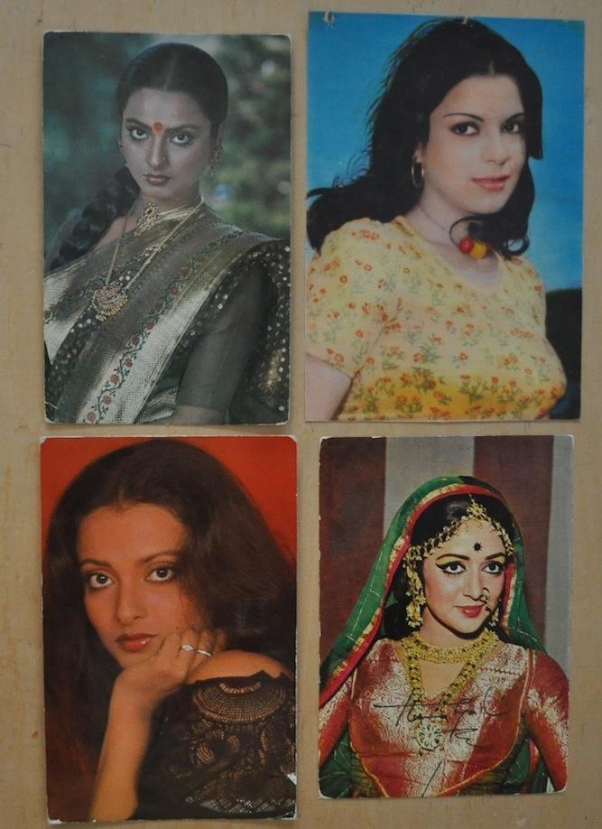 Индийские открытки с актерами 23
