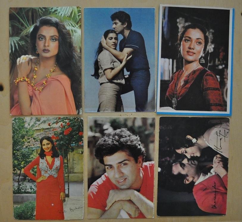 Индийские открытки с актерами 71