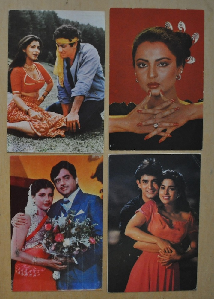 Индийские открытки с актерами