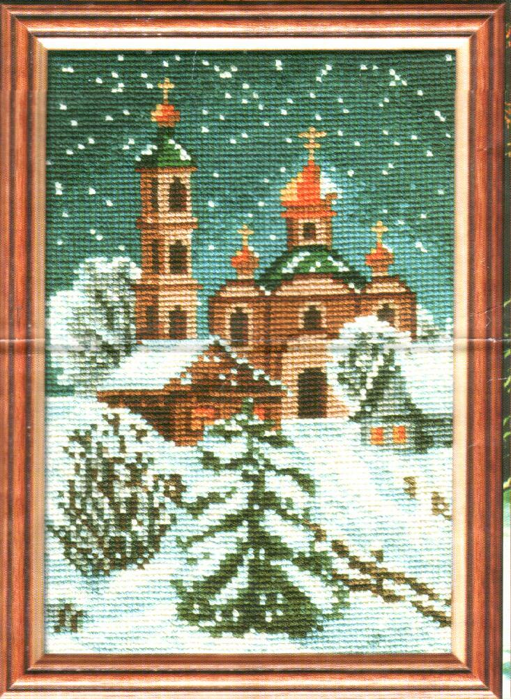 Схемы крестом зимнее утро